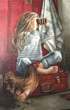 Painting by Maria Oosthuizen Pictures To Paint, Types Of Art, Beautiful Paintings, Painting & Drawing, Amazing Art, Watercolor Art, Folk Art, Art Drawings, Art Projects