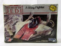 Vtg Star Wars ROTJ 1-1973 A-WING FIGHTER Model Kit Set Factory Sealed by MPC #MPC