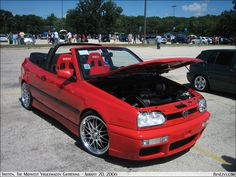 when you love your cabrio. Vw Golf 3, Golf Mk3, Volkswagen Golf, Vw Tdi, Vw Cabrio, Boy Toys, Toys For Boys, Convertible, Car Cleaning