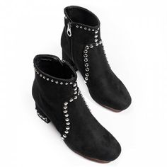 GET $50 NOW   Join RoseGal: Get YOUR $50 NOW!https://www.rosegal.com/boots/studs-accent-block-heel-ankle-boots-1543437.html?seid=5957462rg1543437