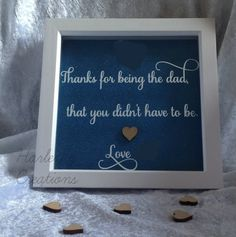 Father's Day frame Step-Dad Gift Handmade Box by HarleyzCreations