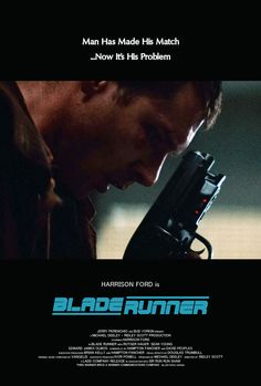 Harrison Ford in Blade Runner Blade Runner Blaster, Blade Runner Art, Blade Runner 2049, Sf Movies, Great Movies, Fiction Movies, Best Movie Posters, Film Posters, Man In Black