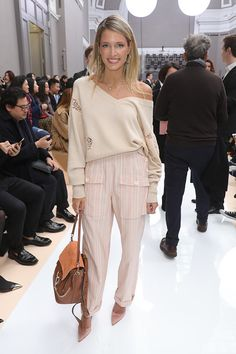 Helena Bordon attends the Chloe show as part of the Paris Fashion Week Womenswear Fall/Winter 2017/2018 on March 2 2017 in Paris France