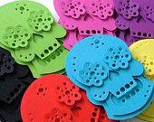 Halloween Decor Skulls. $15.00, via Etsy. From TheDollCityRocker