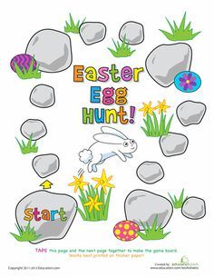 Worksheets: Play the Easter Egg Hunt Game!