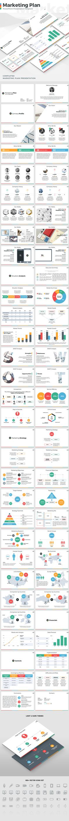 Marketing Plan - PowerPoint Presentation Template (PowerPoint Templates)