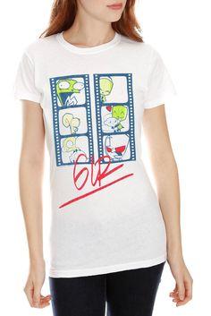 Invader Zim Gir Film Faces Girls T-Shirt