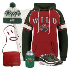 Minnesota Wild Game Day by carriefdix on Polyvore featuring Old Time Hockey, J.Crew, NIKE, Louis Vuitton, '47 Brand and Kolder