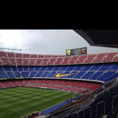 Camp Nou the day after losing to Chelsea