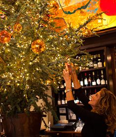Whatever you're celebrating, New York's Gramercy Tavern is incredibly festive during the holiday season.