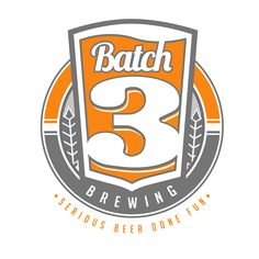 Batch 3 Brewing (Serious Beer Done Fun): logo design by JasonLaz