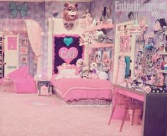 Sometimes I am Cat Valentine My New Room, My Room, Girl Room, Girls Bedroom, Cat Valentine, Ariana Grande, Pastel Bedroom, Kawaii Bedroom, Japan Crafts