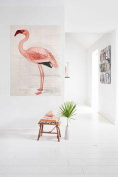 Fleur een kale wand in je woonkamer of slaapkamer op met deze kleurrijke kaart van ixxi.