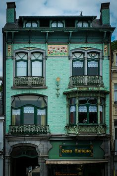 Art nouveau architecture in the town of Spa also the world's first spa