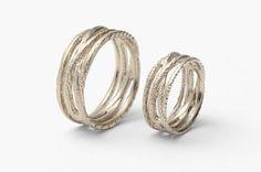 Snubní prsteny z bílého zlata od Věry Novákové, ring, gold, jewel, zdroj: www.vera-novakova.cz #design #czechdesign