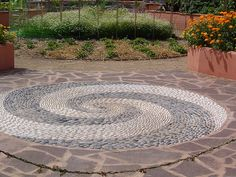 Pebble Mosaic by Fluffymuppet, via Flickr