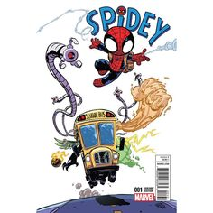 Spidey #1 variant cover by Skottie Young *