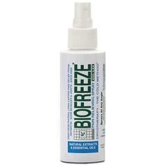 BioFreeze Spray - A unique, effective pain reliever that works fast and provides relief for hours. BioFreeze products effectively help relieve pain from: Plantar Fasciitis, Heel Spurs, Achy Feet, Ankle Sprains, Foot, Heel, and Arch Pain, Sore Muscles, Muscle Sprains, Tendonitis, Sports Injuries, Painful Ankle, Knee, Hip  Elbow Joints, Back, Shoulder, and Neck pain, and Arthritis