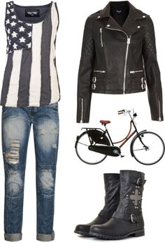 """""""Biker Chick"""" by falala1000 ❤ liked on Polyvore"""