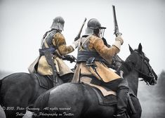 Sealed Knot roundhead dragoons at the Battle of Naseby