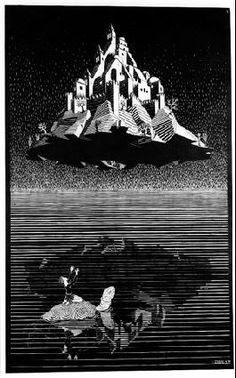 M.C. Escher – Castle in the Air