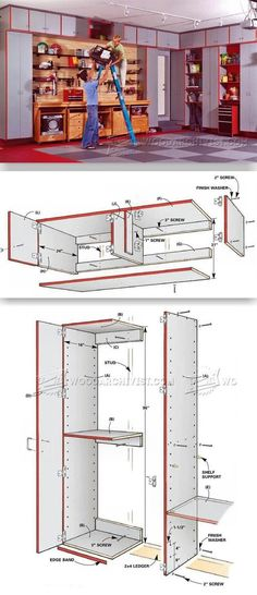 Garage Storage System Plans - Workshop Solutions Projects, Tips and Tricks | WoodArchivist.com