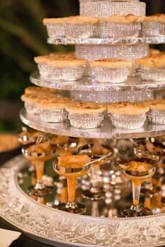Sweet Pie Desserts Peach Cobblett Wedding Bling Tower.                            A Southern Taste of Yummy!