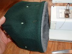 You will need: Two pieces of fleece, the piece for the main body of the hat (shown here as dark green) 21 inches long by 8 inches wide. The piece for the band or lining of the hat (shown here in gray) 21 inches long by 3 inches wide. *Click on any of the images [...]