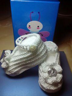 Patucos bailarinas de ganchillo/crochet