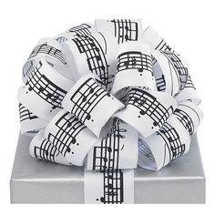 musical notes fabric ribbon