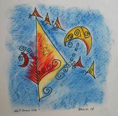 Pin Me! We'll Grow Old by Dennis Brock Or Buy Me on URCrafti.com   ##artist ##drawing ##ink ##pastel ##watercolor #Dennis_Brock