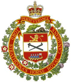 Insigne du Lord Strathacona's Horse (Royal Canadians) Royal Canadian Navy, Canadian Army, Canadian History, Commonwealth, Army Pics, Military Insignia, Family Crest, Brand Identity Design, Military History