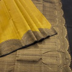 A Hayagrivas Handwoven Kanjivaram Sari Silk Saree Kanchipuram, Kanjivaram Sarees, Organza Saree, Silk Organza, Cotton Saree, Yellow Saree, Green Saree, Indian Beauty Saree, Indian Sarees