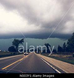 Ontario, Canada. 2nd Aug, 2015. Storm #clouds over highway 9 near Mildmay, #Ontario © Philjhill / StockimoNews/Alamy Live News