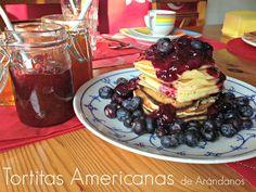 #tortitas #desayuno #merienda #postre #arándanos #receta #blog