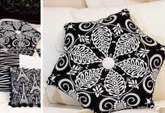 Six-Sided Pillow with Tassels is a Fussy Cutting Superstar