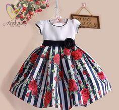 Girl Dress, Flower Girl Dress, Children Toddler Party Dress for Wedding, Junior Bridesmaid Dress, Elegant Dress, girl party dress de VinchasUsa en Etsy