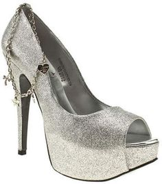 Red or Dead Womens Bling Glitter High Heels