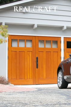 Real Carriage Doors is speciaized in in solid wood carriage doors, garage doors, entry, doors, barn doors, and folding doors Sliding Garage Doors, Carriage House Garage Doors, Custom Garage Doors, Wooden Garage Doors, Carriage Doors, Custom Garages, House Doors, Entry Doors, Barn Doors