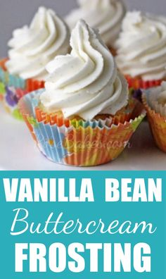 Vanilla Bean Buttercream Frosting - Rose Bakes