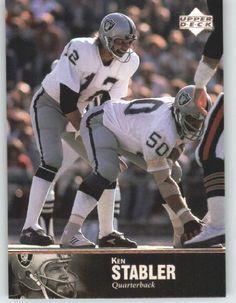 1997 Upper Deck Legends Football Card # 166 Ken Stabler - Oakland Raiders - NFL…