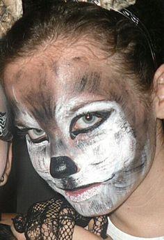 Wolf lobo face painting art diy makeup maquillaje