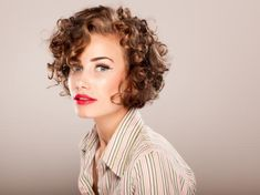 Curly bob--Most-likely too short for me, but so cute!