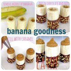 Chocolate caramel bananas