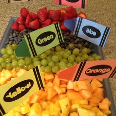 Fruit tray for a kindergarten teacher gift shower