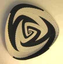 Telephone Wire Woven Triangular Plate in Black & White