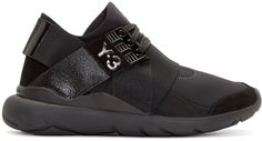 Y-3  Black Neoprene Low-Top Qasa Elle Sneakers