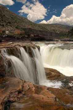 Salt River Canyon Waterfall, Arizona We live in a diverse state. Beautiful! #arizona #lovewaterfalls