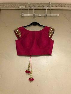 Blouse Designs High Neck, Hand Work Blouse Design, Fancy Blouse Designs, Saree Blouse Patterns, Designer Blouse Patterns, Saree Blouse Designs, Indian Blouse, Indian Wear, Indian Designer Wear
