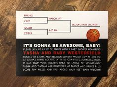 Basketball Shower Party or Tournament Invitation by pixelstopaper, $20.00
